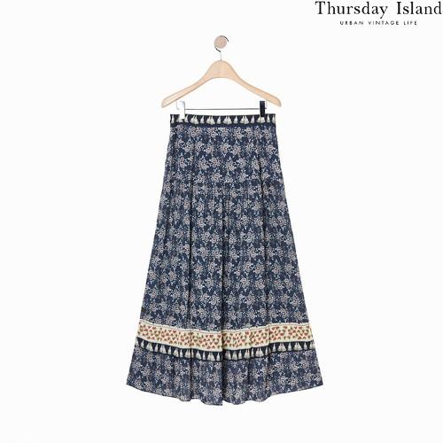 Thursday islandのボーダーミックスマキシスカート購入先