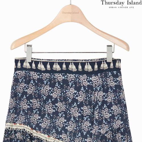 Thursday islandのボーダーミックスマキシスカート購入先2