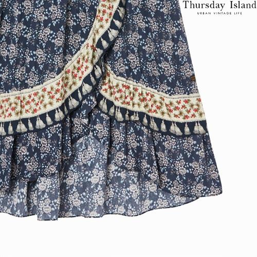Thursday islandのボーダーミックスマキシスカート購入先4