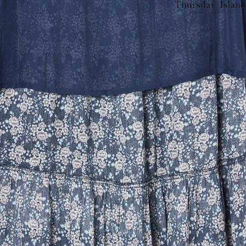 Thursday islandのボーダーミックスマキシスカート購入先5